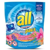 All Stainlifters Mighty Pack Fresh Tropical Mist 472 g 24 szt. - uniwersalne kapsułki do prania tkanin